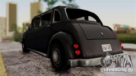 London Cab для GTA San Andreas вид сзади слева