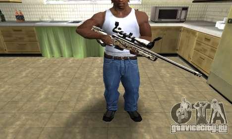 Gold Dragon Sniper Rifle для GTA San Andreas третий скриншот