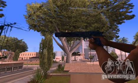 Deagle Blue для GTA San Andreas третий скриншот