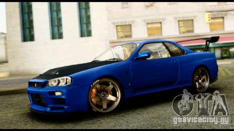 Nissan Skyline GT-R (BNR34) Tuned для GTA San Andreas