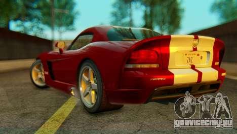 Dodge Viper SRT10 для GTA San Andreas вид слева