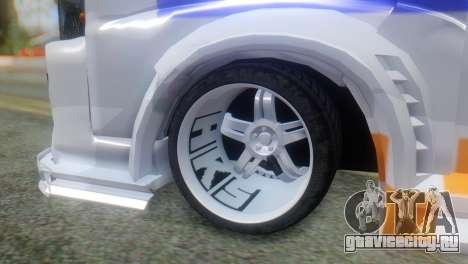 Nissan Urvan NV350 для GTA San Andreas вид сзади слева
