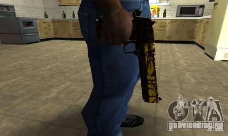 Yellow Jungle Deagle для GTA San Andreas