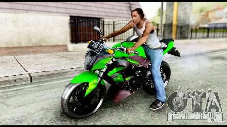 Kawasaki Z250SL Green для GTA San Andreas
