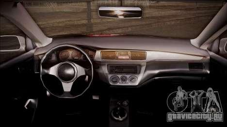 Mitsubishi Lancer Evolution VIII Yatogami Itasha для GTA San Andreas вид справа