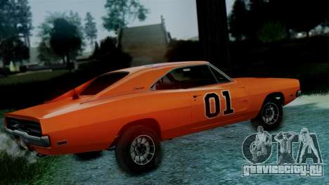 Dodge Charger General Lee для GTA San Andreas вид сзади слева