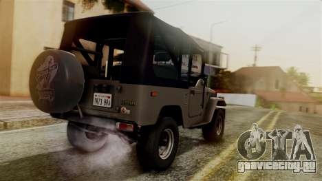 Toyota Land Cruiser J40 1980 для GTA San Andreas вид слева
