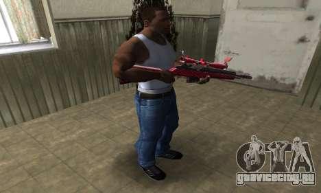 Red Romb Sniper Rifle для GTA San Andreas третий скриншот