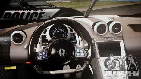 NFS Rivals Koenigsegg Agera R для GTA San Andreas вид справа