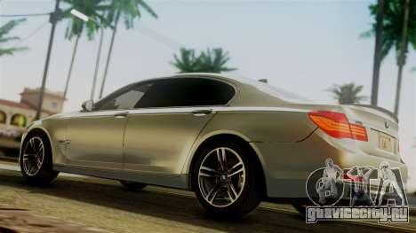BMW 7 Series F02 2012 для GTA San Andreas вид сзади слева