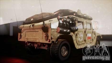 Polish HMMWV для GTA San Andreas вид сзади слева