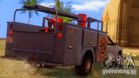 Premier Utility Van для GTA San Andreas вид слева