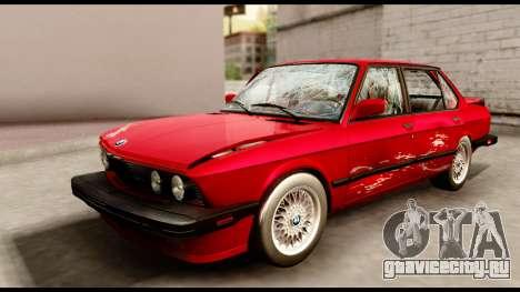 BMW M5 E28 1985 NA-spec для GTA San Andreas вид сверху