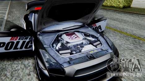 NFS Rivals Nissan GT-R R35 для GTA San Andreas вид сзади