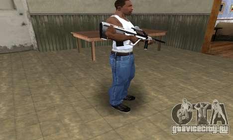 Chrome AUG для GTA San Andreas третий скриншот