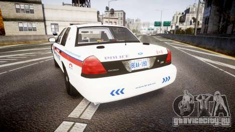 Ford Crown Victoria Bohan Police [ELS] WL для GTA 4 вид сзади слева