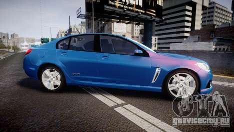 Holden VF Commodore SS Unmarked Police [ELS] для GTA 4 вид слева