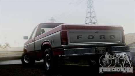 Ford F-150 Ranger 1984 для GTA San Andreas вид слева