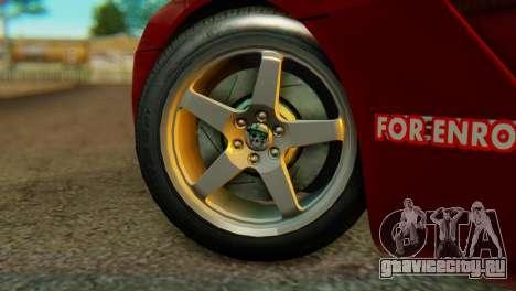 Dodge Viper SRT10 для GTA San Andreas вид сзади слева