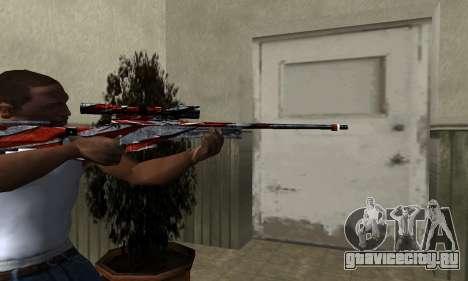 Red Flag Sniper Rifle для GTA San Andreas