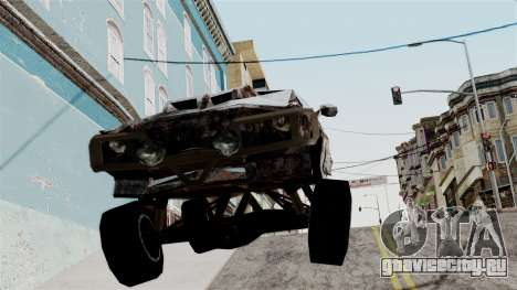 Post-apocalyptic Buffalo для GTA San Andreas вид сзади слева