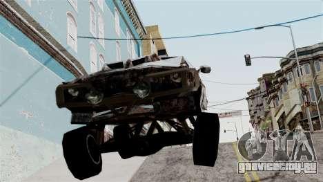 Post-apocalyptic Buffalo для GTA San Andreas вид сзади слева