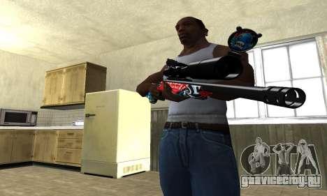 Red Shark Sniper Rifle для GTA San Andreas