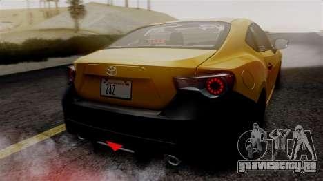 Toyota GT86 PJ для GTA San Andreas вид сверху