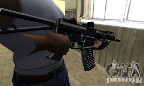 Full Black Automatic Gun для GTA San Andreas