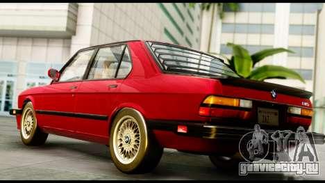 BMW M5 E28 1985 NA-spec для GTA San Andreas вид слева