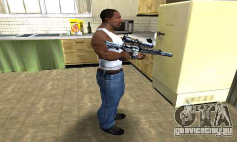 Blue Snow Sniper Rifle для GTA San Andreas третий скриншот