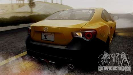 Toyota GT86 PJ для GTA San Andreas вид сбоку