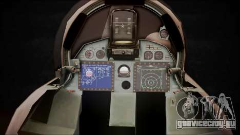 SU-35 Flanker-E Ofnir Ace Combat 5 для GTA San Andreas вид сзади