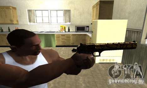 Yellow Jungle Deagle для GTA San Andreas третий скриншот