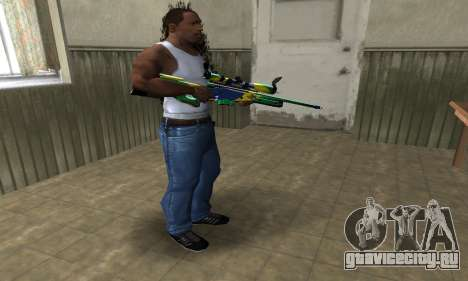 Three Colors Sniper Rifle для GTA San Andreas третий скриншот