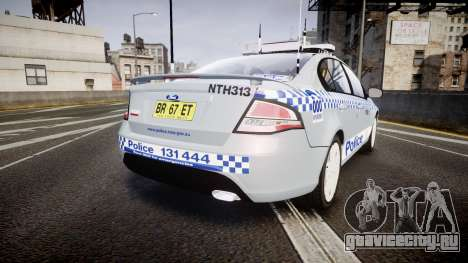 Ford Falcon FG XR6 Turbo Police [ELS] для GTA 4 вид сзади слева