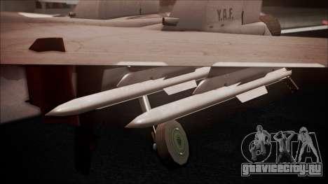 SU-35 Flanker-E Ofnir Ace Combat 5 для GTA San Andreas вид справа