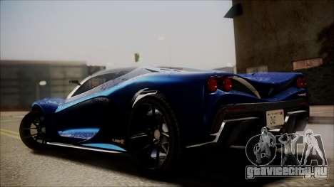 GTA 5 Grotti Turismo R SA Style для GTA San Andreas вид слева