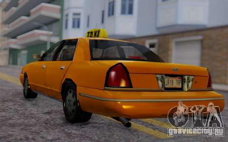 Ford Crown Victoria Taxi для GTA San Andreas вид слева