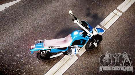 Honda XR 200 для GTA 4 вид справа