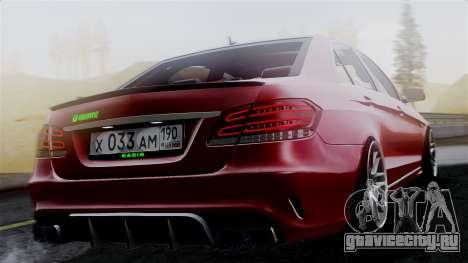 Mercedes-Benz W212 E63 AMG для GTA San Andreas вид слева