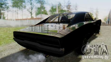 Dodge Charger RT 1970 Fast & Furious для GTA San Andreas вид слева