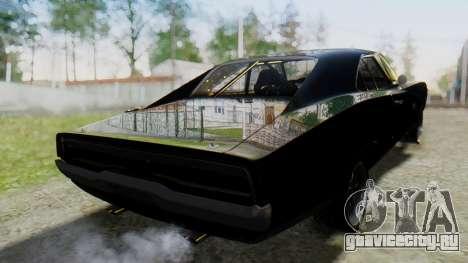 Dodge Charger RT 1970 Fast & Furious для GTA San Andreas вид слева