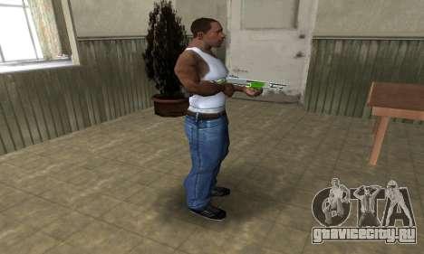 Green Lines Shotgun для GTA San Andreas третий скриншот