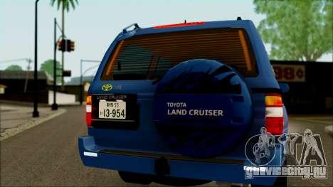 Toyota Land Cruiser 100 UAE Edition для GTA San Andreas вид изнутри