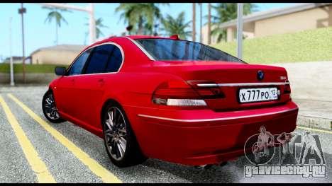 BMW 760Li E66 для GTA San Andreas вид слева