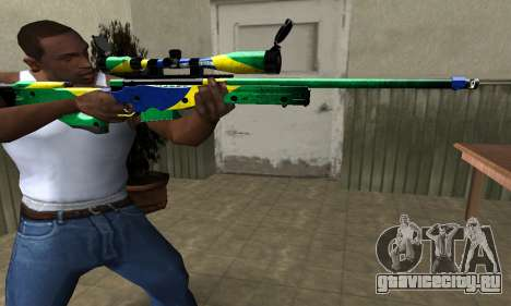 Three Colors Sniper Rifle для GTA San Andreas