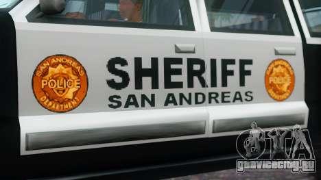Police 4-door Yosemite для GTA San Andreas вид справа
