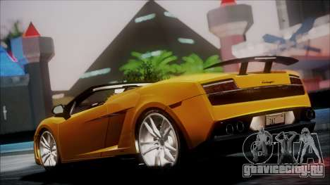 Lamborghini Gallardo LP570-4 Spyder 2012 для GTA San Andreas вид сзади слева
