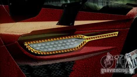 Bertone Mantide 2010 для GTA San Andreas вид сзади